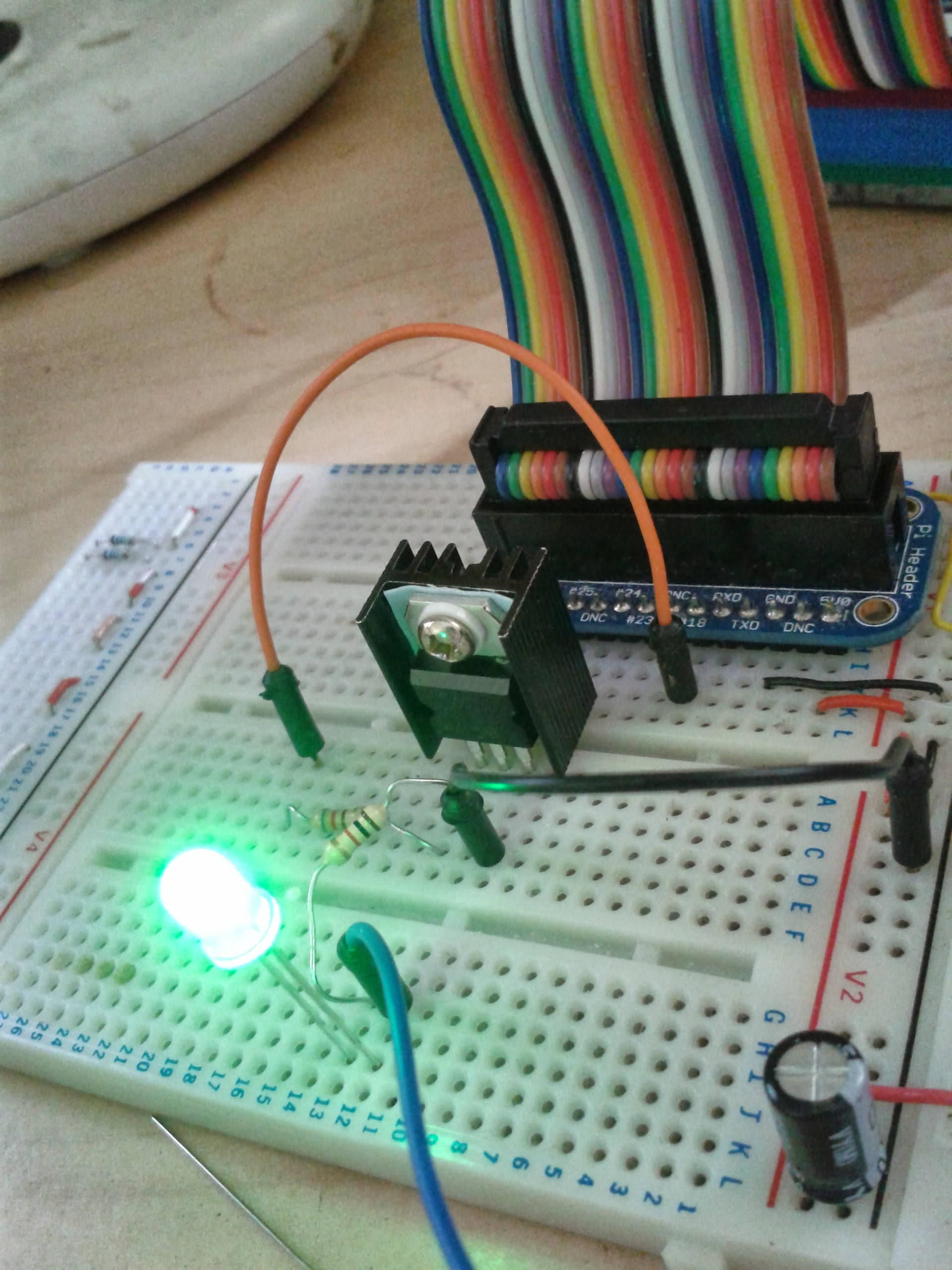 Raspberry Pi Running Node Red Wiring To Pwm Control A Light Wiringpi Set Mode Tip120 Driving An Led From The Pin Of